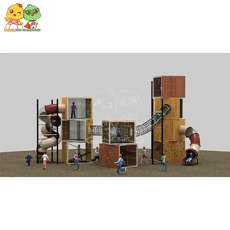 SKP systems wooden slide wholesale for kindergarten-5