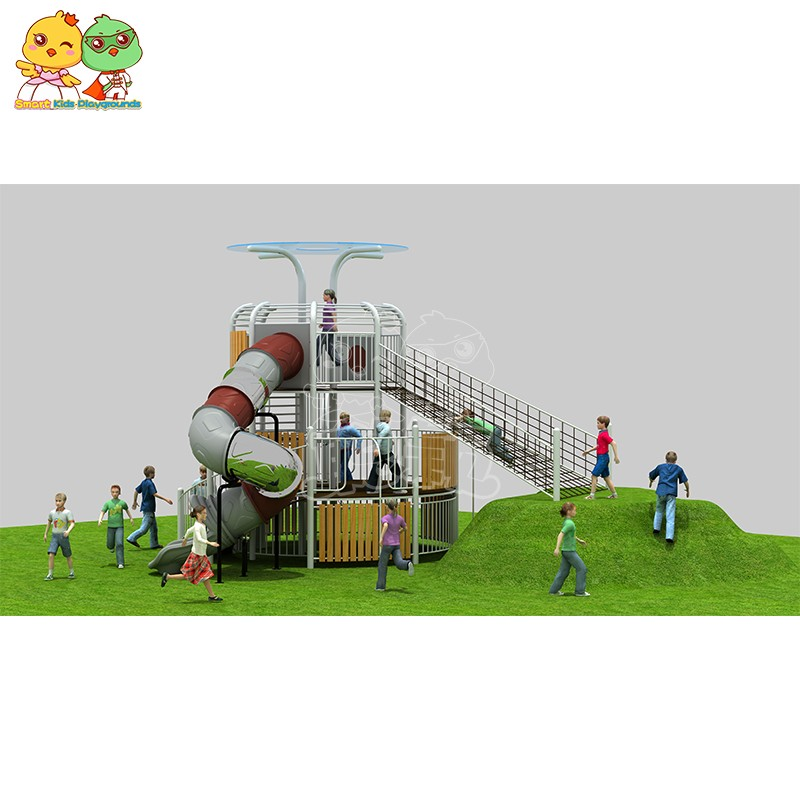 SKP systems wooden slide wholesale for kindergarten-6