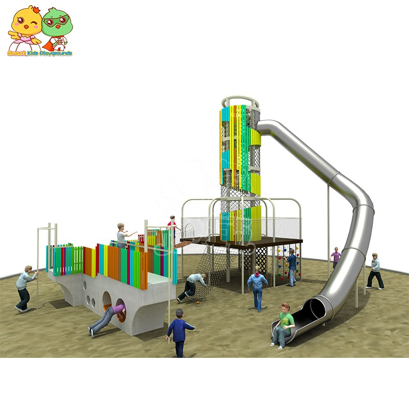 SKP systems wooden slide wholesale for kindergarten-7