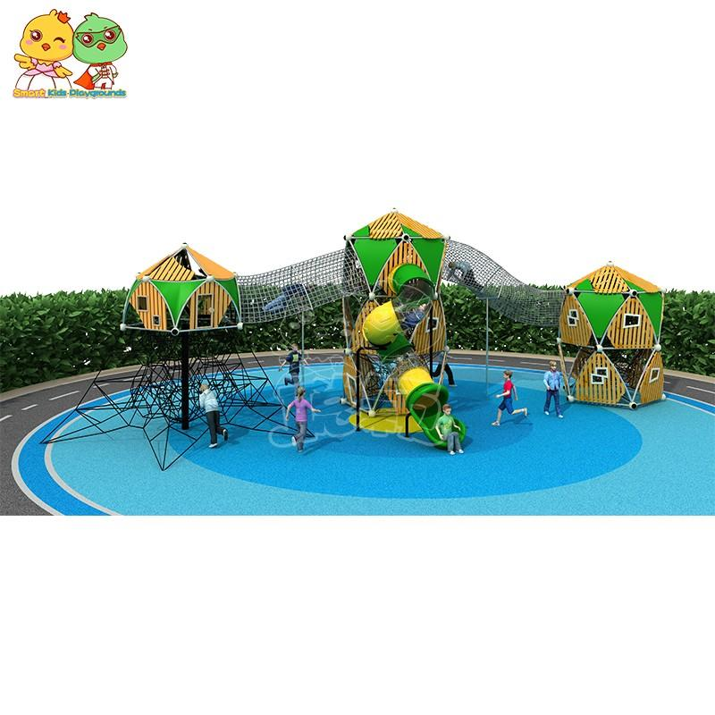 SKP systems wooden slide wholesale for kindergarten