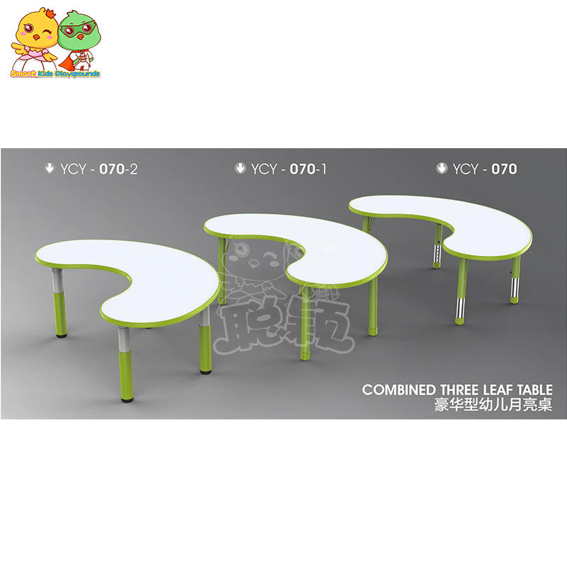 Plastic Colorful Children's Moon Table Is Adjustable SKP