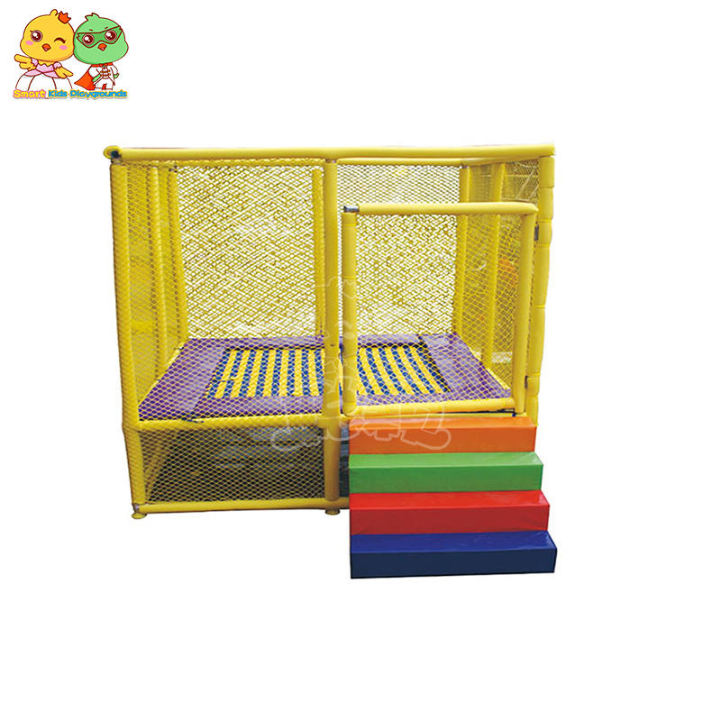 Small Outdoor Indoor Trampoline With Guardrail Commercial Domestic SKP