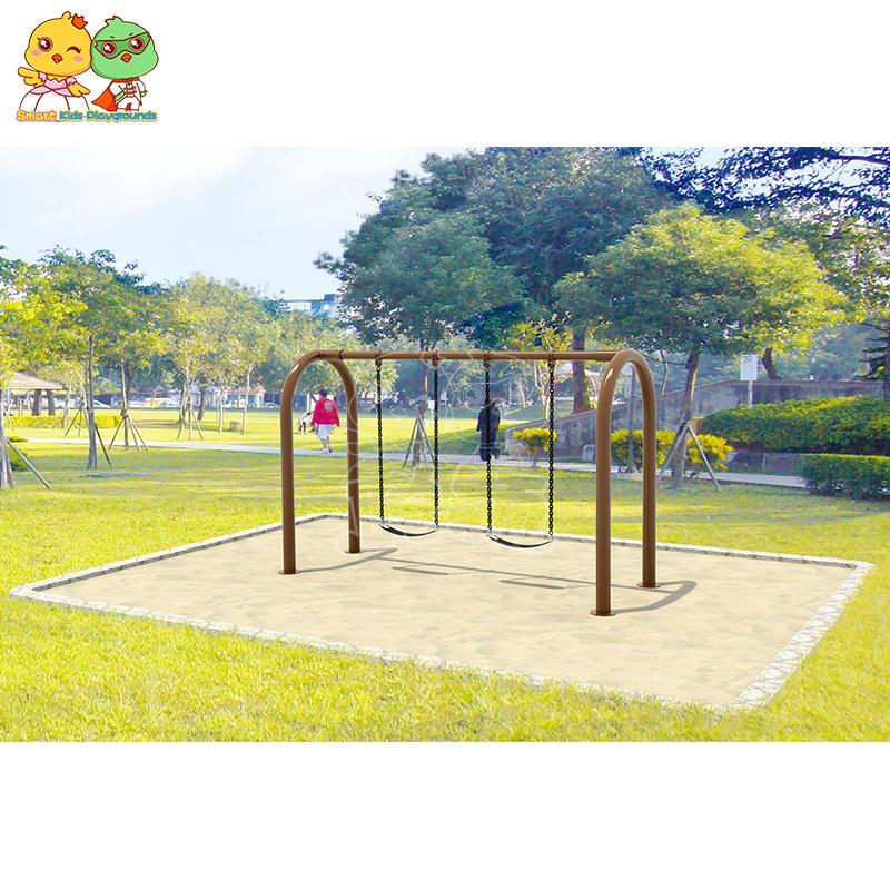 Galvanized Steel Tube Plastic Children Swing Slide Combination SKP