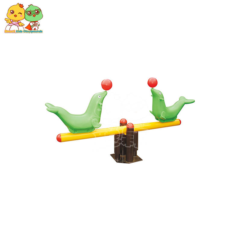 Creative Animal Plastic Galvanized Pipe Children's Seesaw SKP