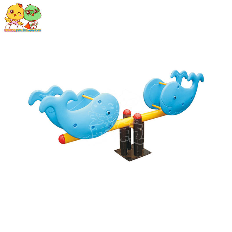 Creative Animal Plastic Galvanized Pipe Children's Seesaw SKP