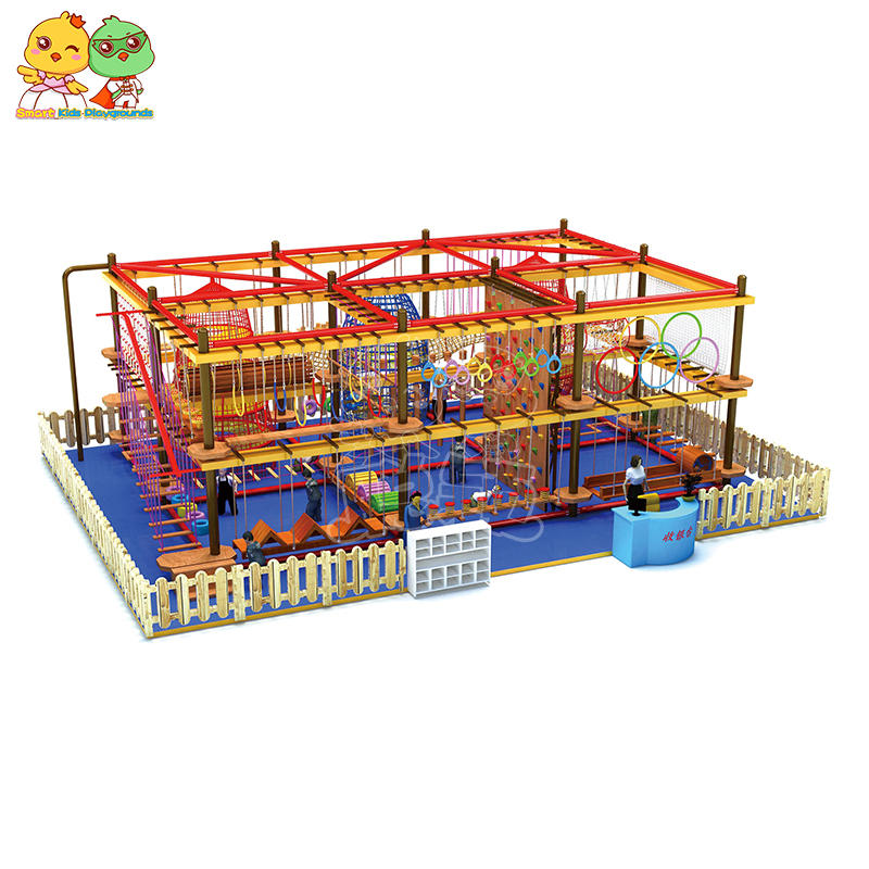 Children Wood Indoor Climbing Rope Course Soft Play SKP