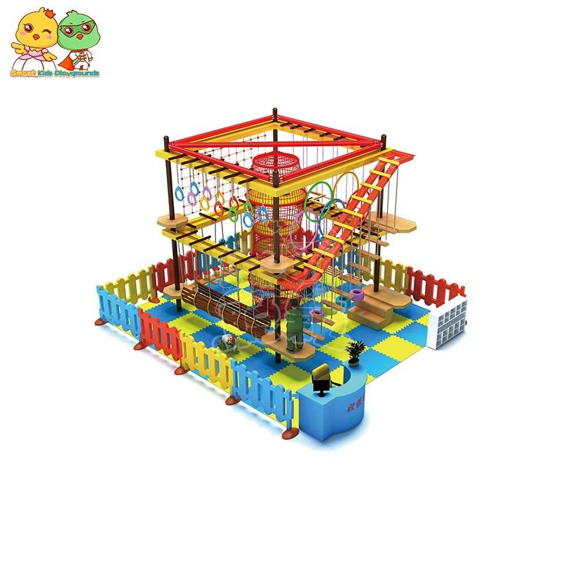 SKP indoor rope play equipment for challenge for play house-2