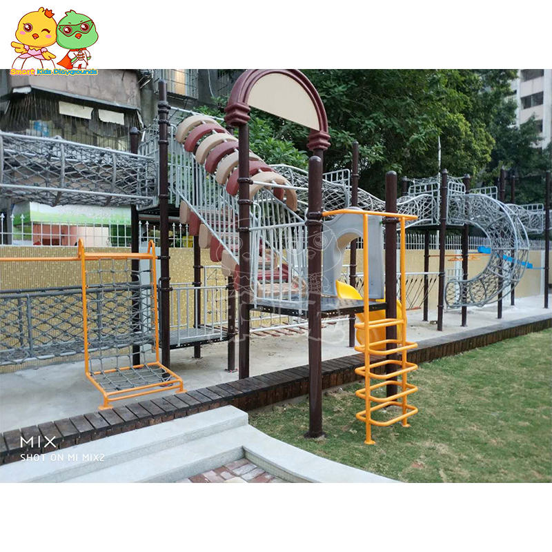 Large scale climbing slide equipment nautical rope galvanized steel pipe for sale SKP