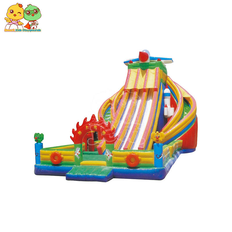 Large Inflatable Castle Large Slide Customized Shaped Water Equipment SKP