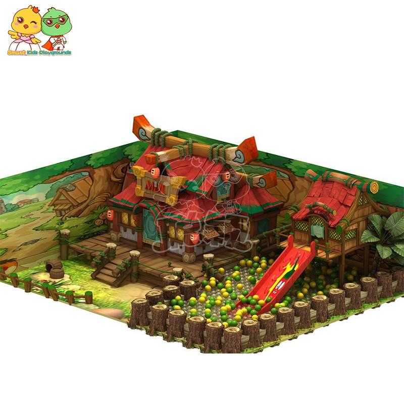 funny wooden playground supplier for indoor