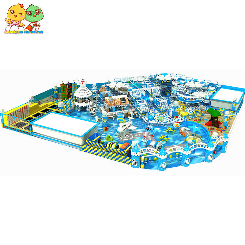 Snow and Ice Themed Indoor Playground Amusement Equipment SKP