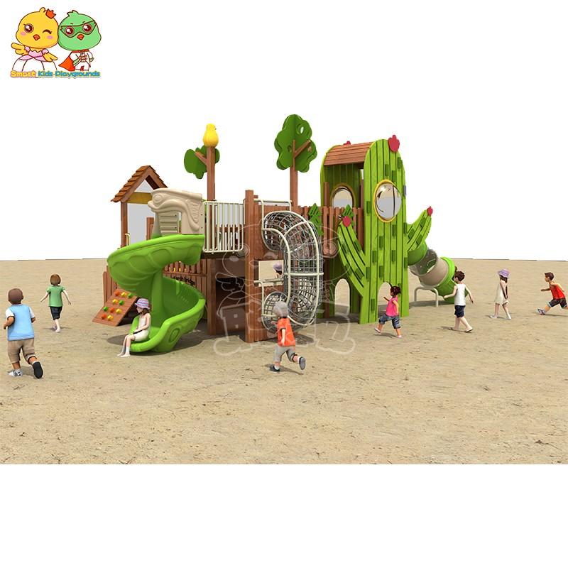 SKP playground plastic slide directly sale for pre-school-2