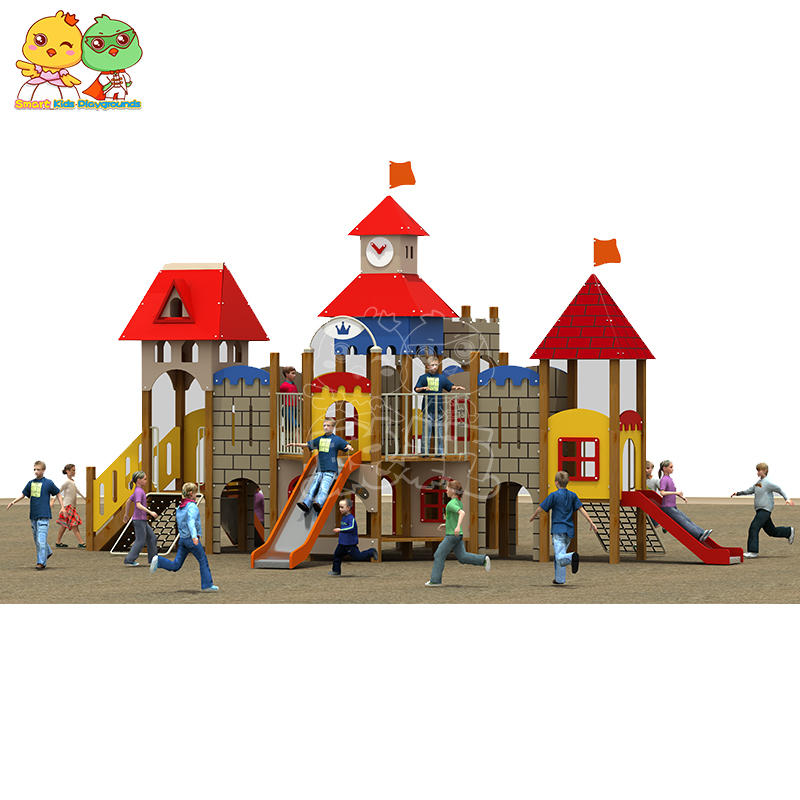 Castle Style Slide Children Dream Slide PE Board Wood Combination SKP