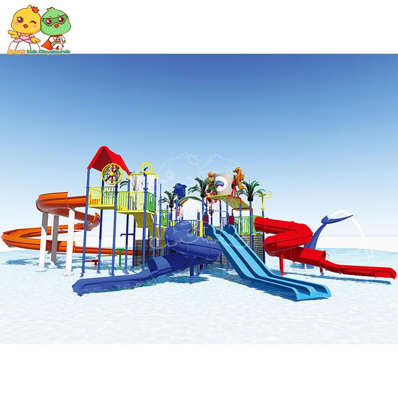Large water park slide manufacturers anti - corrosion fiberglass SKP