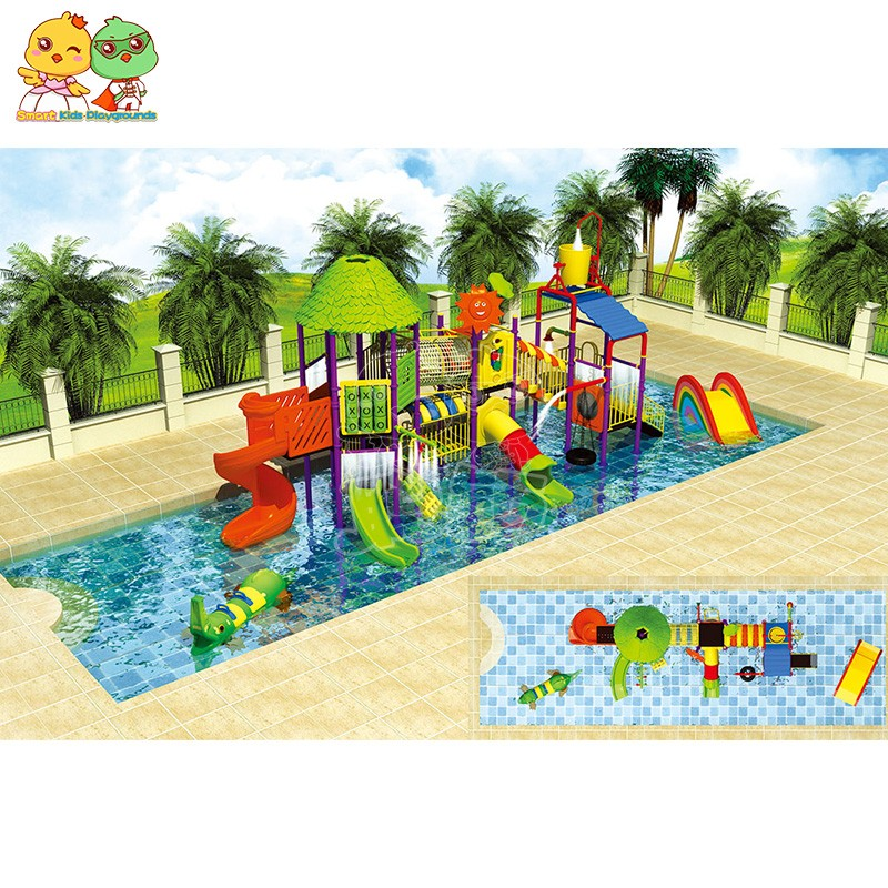 SKP popular park water slides simple assembly for plaza-2