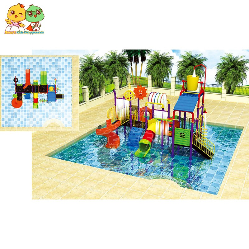 SKP popular park water slides simple assembly for plaza-3