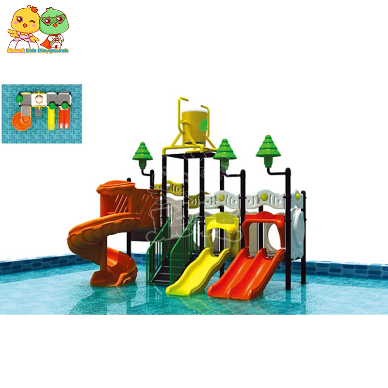 SKP popular park water slides simple assembly for plaza-4