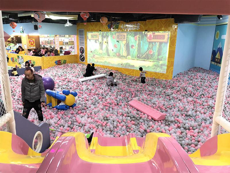Space theme children indoor playground small ball pool climbing big slide SKP