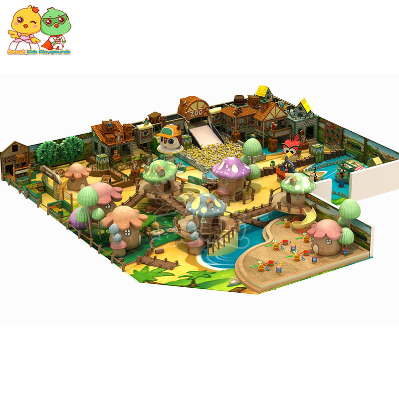 Southeast Asian style Chinese style castle themed playground equipment indoor