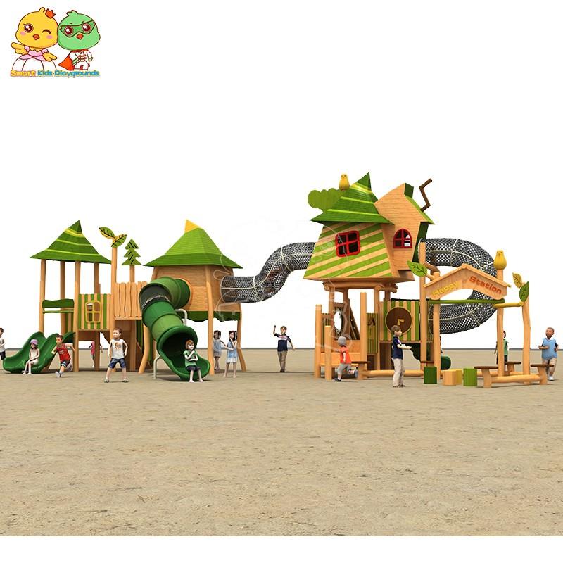 SKP outdoor plastic slide for supermarket-1