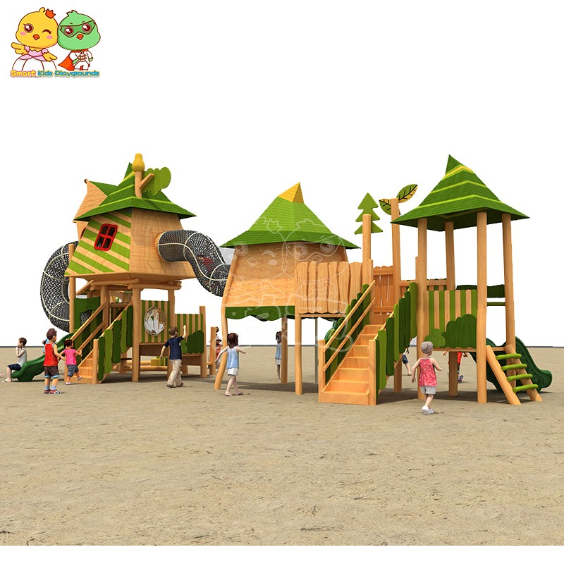 SKP outdoor plastic slide for supermarket-2