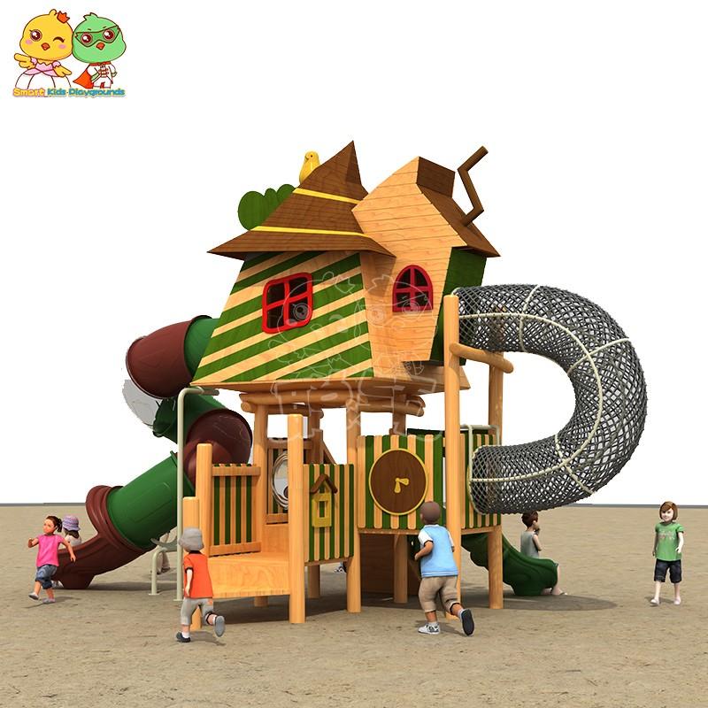 SKP outdoor plastic slide for supermarket-4