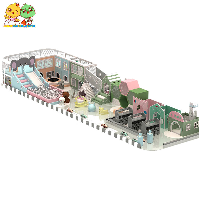 Candy macaron theme indoor playground manufacturers commercial