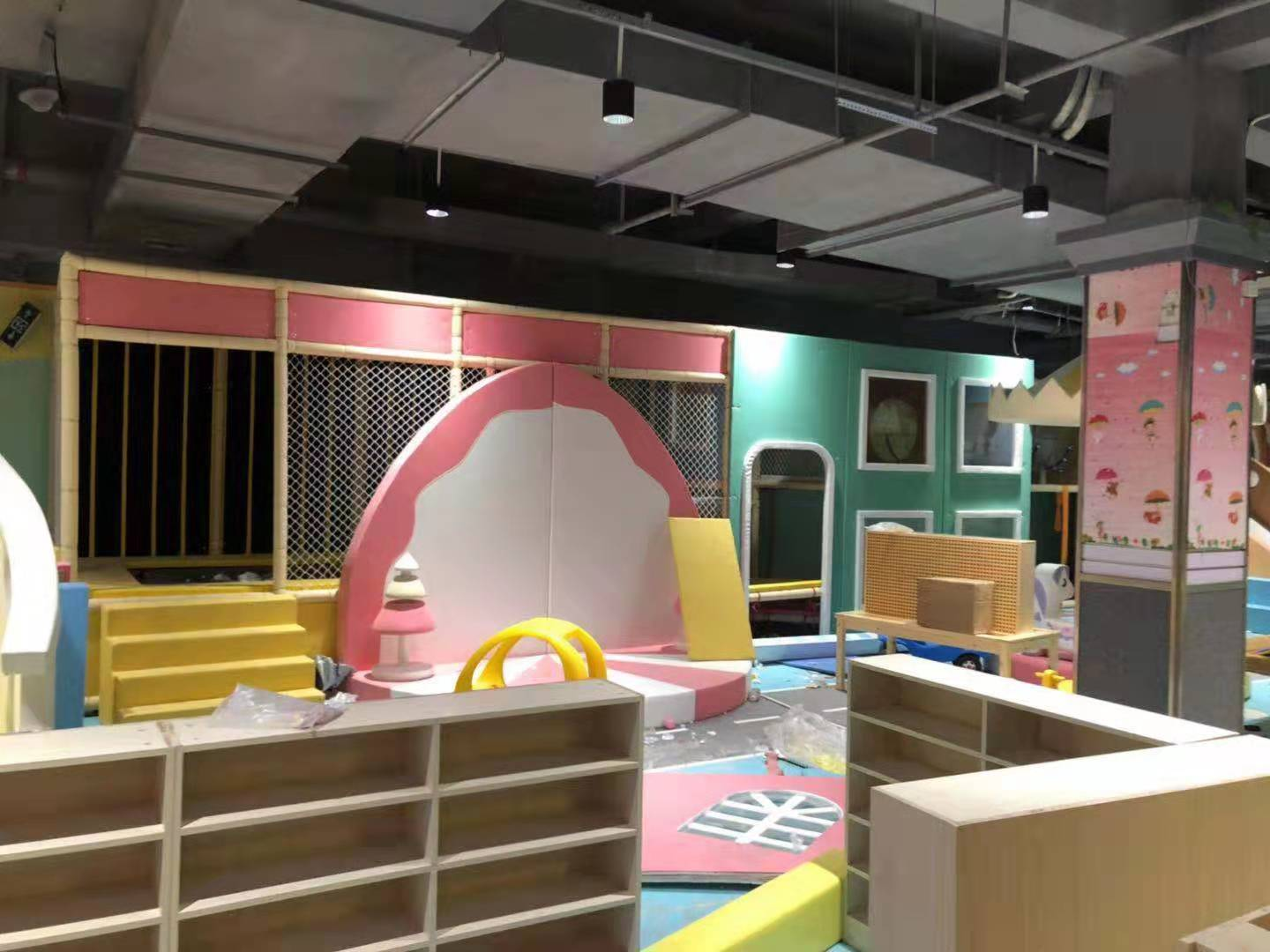 Big indoor playground soft type for children