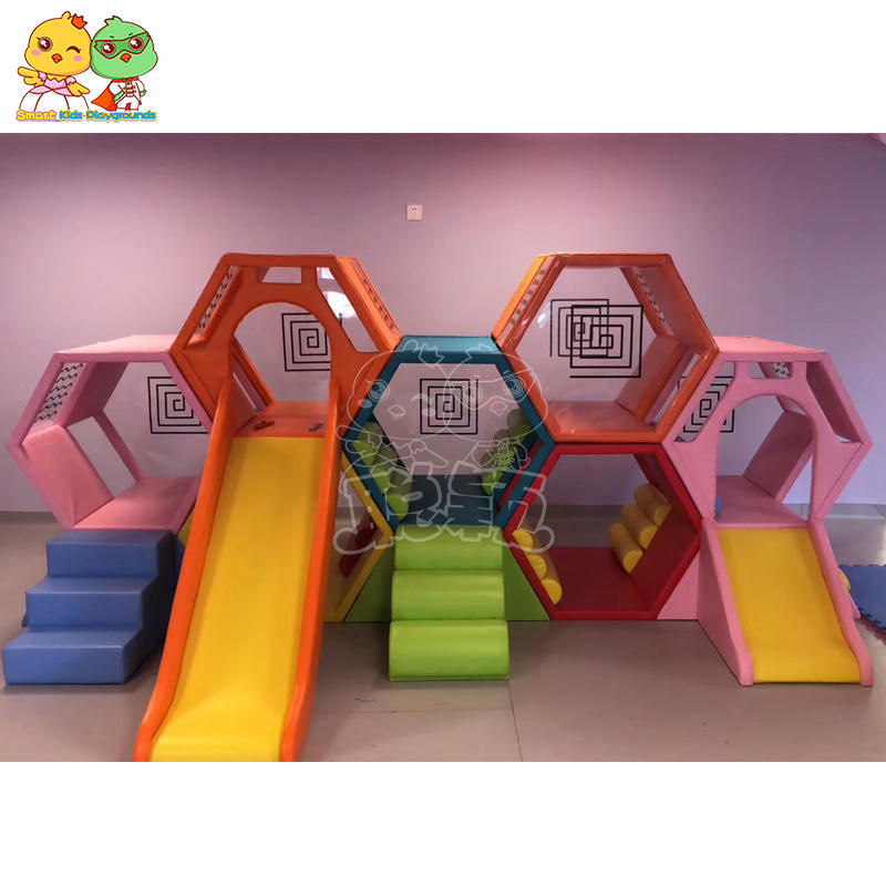 Children soft play slides indoor playground equipment