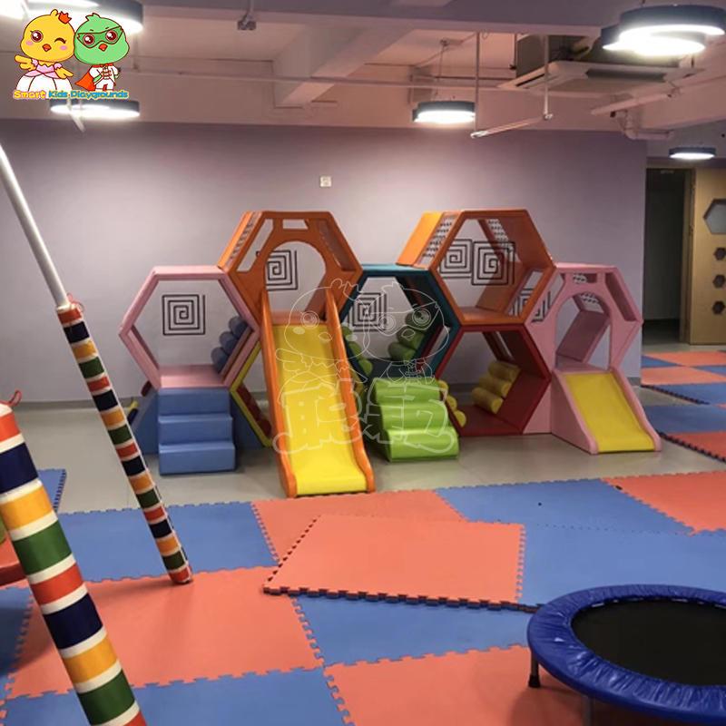 Children soft play slides indoor playground equipment
