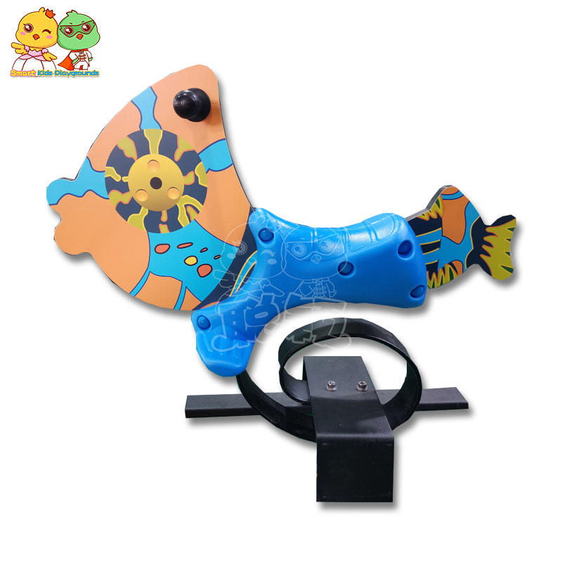 Outdoor playground children plastic rocking horses