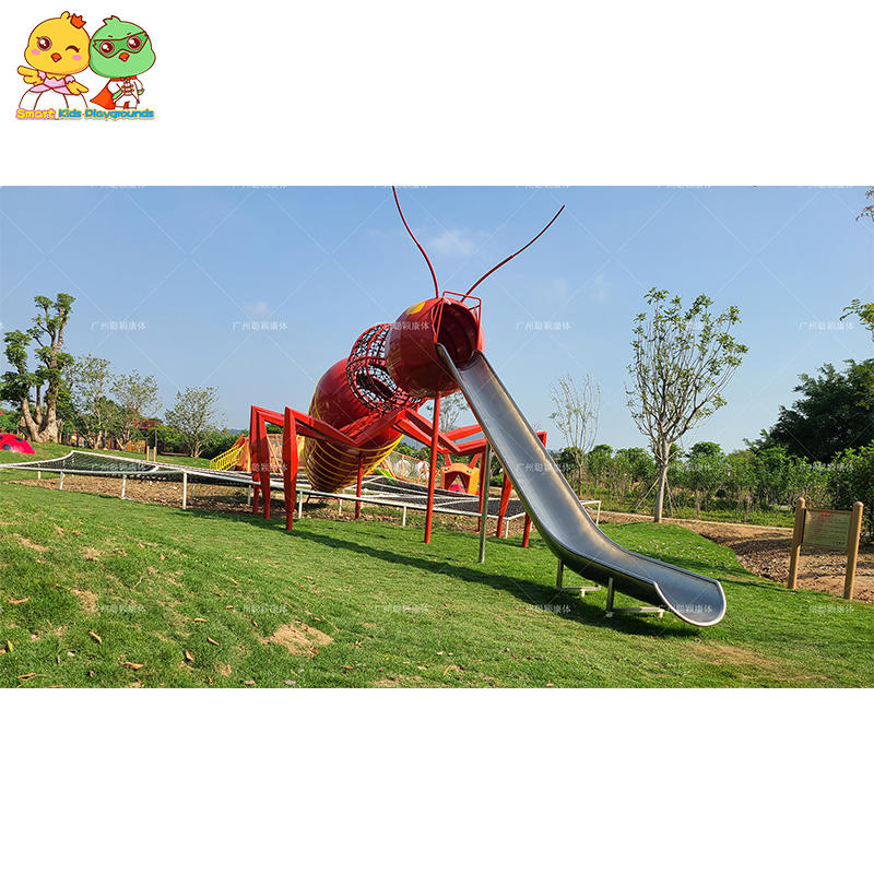 Ant shaped stainless steel children's slide park scenic area kids  equipment outdoor playground