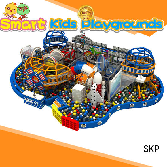 SKP amusement space theme playground puzzle game for kindergarden