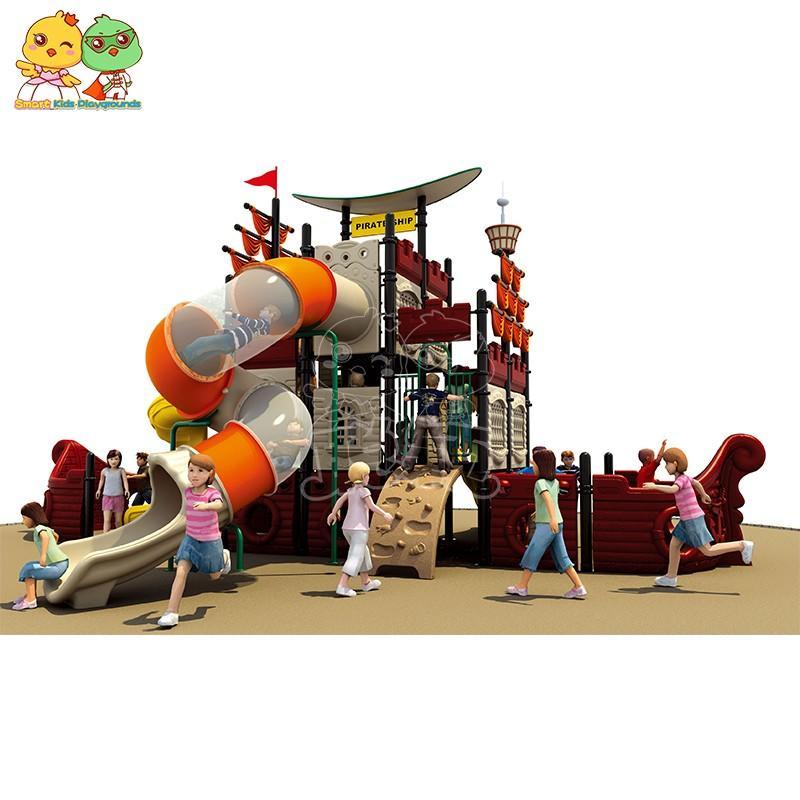 SKP safe wooden slide factory for pre-school-3