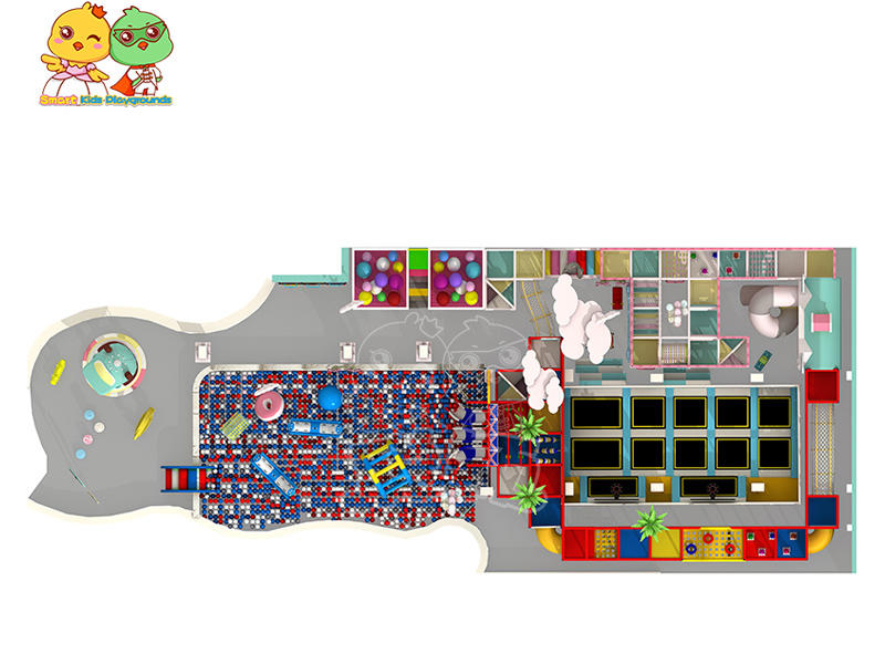 multifuntional space theme playground equipment puzzle game for kindergarden-2