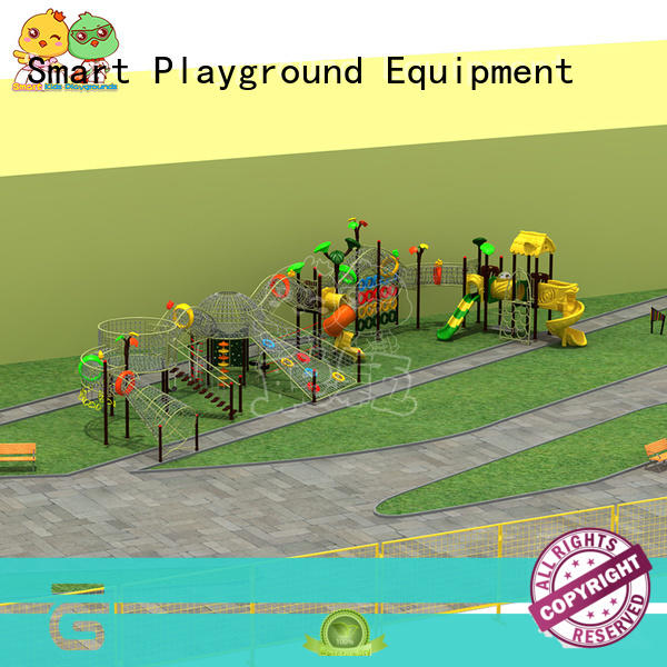 SKP park wooden slide wholesale for pre-school