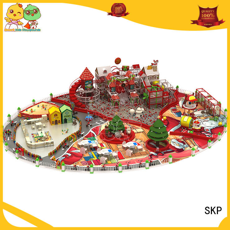 SKP wooden playground equipment for kids fun for play house