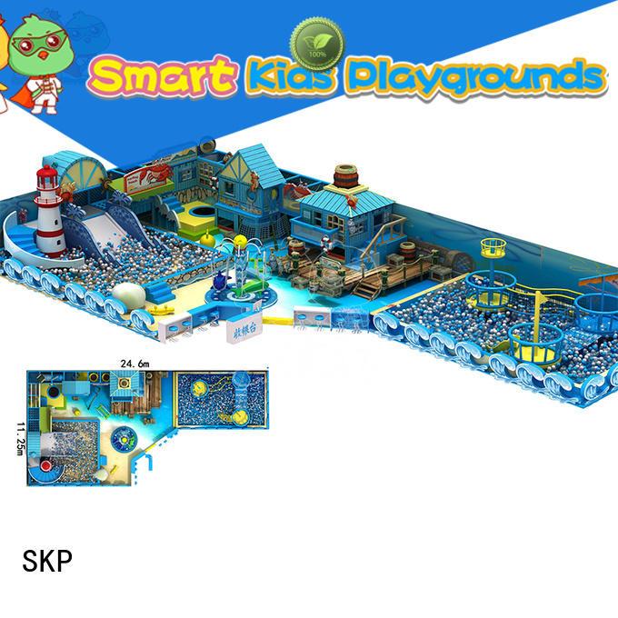 SKP indoor ocean themed playground supplier for restaurant