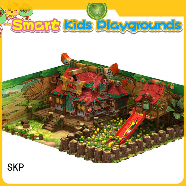 SKP wooden playground supplier for indoor play area