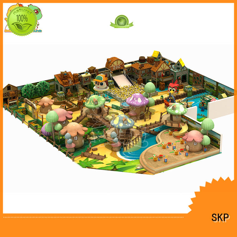 popular wooden playground equipment for fitness for indoor play area