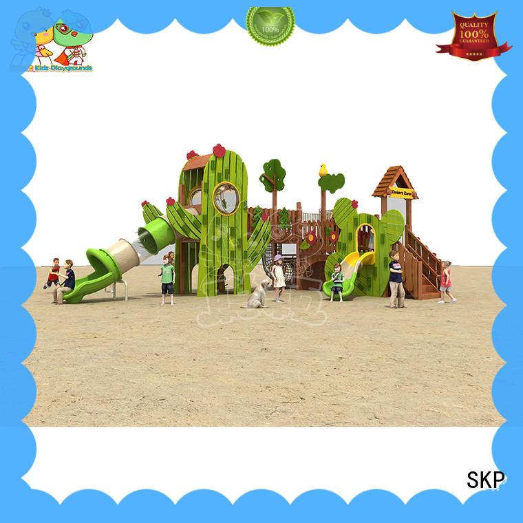 SKP kids wooden slide directly sale for kindergarten