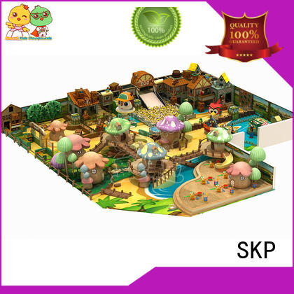 SKP wooden playground equipment supplier for shopping centre