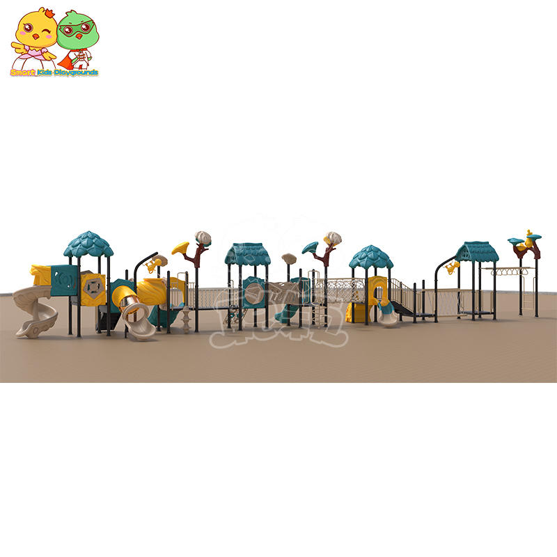 SKP playground plastic slide directly sale for residential area-3