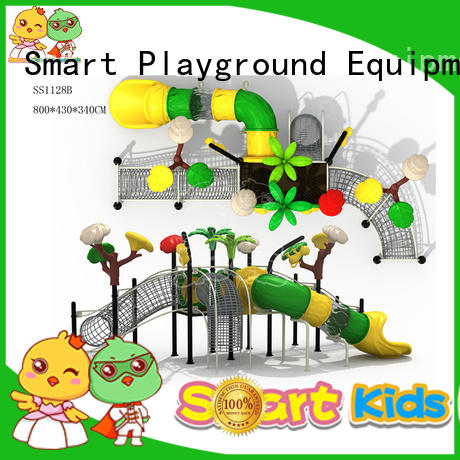 stable wooden slide plastic directly sale for Amusement park