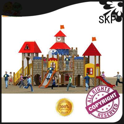 SKP slidesjungle wooden slide factory for supermarket