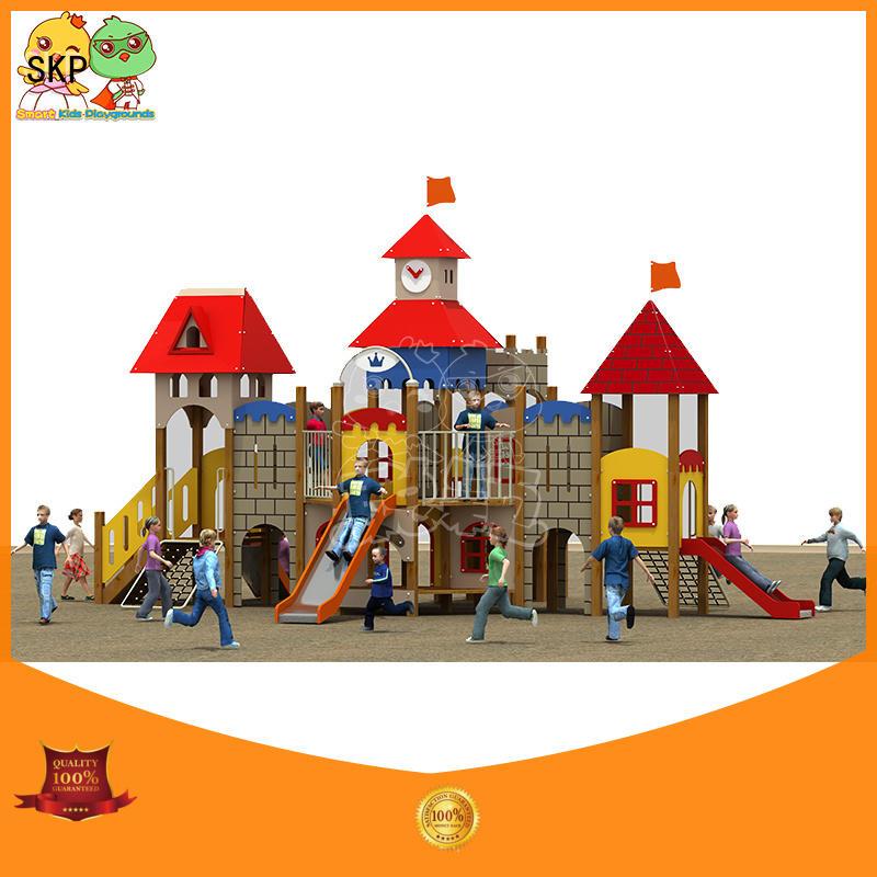 SKP amusement plastic slide wholesale for supermarket