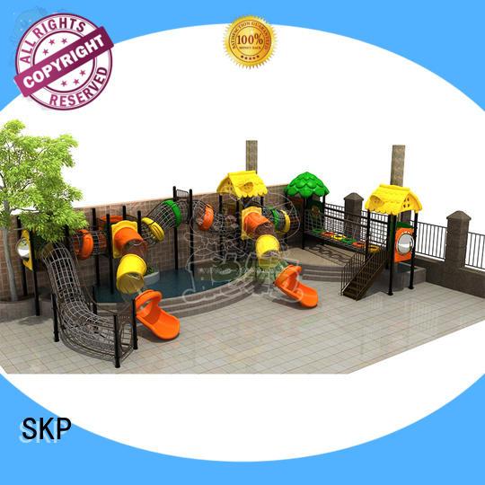 SKP metal kids slide factory for kindergarten
