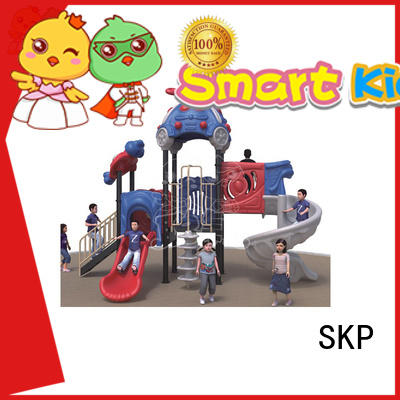 SKP plastic wooden slide directly sale for residential area