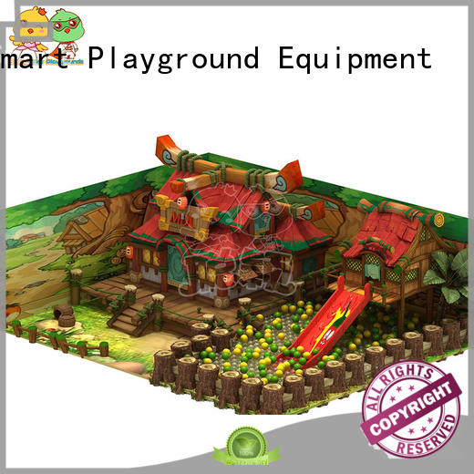 SKP durable wooden playground on sale for shopping centre