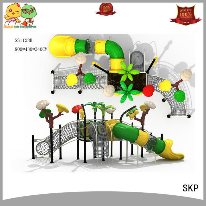 SKP stable wooden slide for pre-school